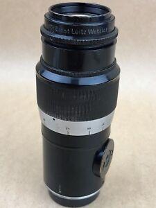 Leica 13.5cm F/4.5 Leitz Hektor Wetzlar MF 135mm LSM #241082 1935 Lens black