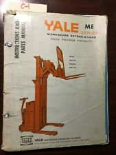 C-1 YALE ME 40 SERIES WOKKSAVER EXTEND-A-LOAD 4000# FORK TRUCK LIFT PARTS MANUAL