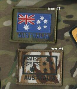 Australie Ozzie Ensigne Spéciale Air Service Regiment Special Velkrö Drapeau X 2