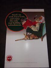 Coca Cola Christmas Display Sign Cardboard Sundblom Santa Reindeer 1995 Coke