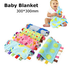 Baby Handkerchief Taggy Toddler Infant Plush Blanket Towel Comforter Toy Gifts