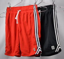 Youth Boy's Carters 2-Pack Drawstring Mesh Athletic Shorts in Red and Black,
