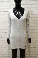 Maglione Grigio Donna G-STAR Taglia Size L Manica Lunga Pullover Viscosa Sweater
