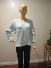 New Victoria's Secret Ice Mint (green)  Long Sleeve Sweater Sz L Made in USA