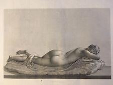 Très Belle Gravure 1808 Androgyne Homme Femme Nue Allongé Curiosa Jbb Bourgois