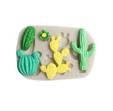Cactus silicone mould  Sugar  freeze and fuse  Cake Decorating fimo resin
