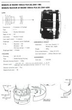 Minolta AF macro 100 mm f2.8 Service Repair Manual