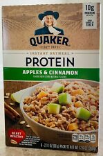 Quaker Instant Oatmeal Protein Apple & Cinnamon ( 6 - 2.11 oz ) ( Pack of 2 )