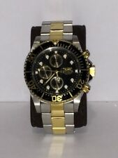 Water Resistant StainlessSteel Gold Watch Invicta ProDiver 1772 Chronograph 200M