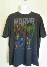 Marvel Comics Avengers: Hulk, Captain America & Spider Man Black T-shirt XL