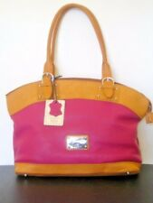VALENTINA ITALY Two Tone Embossed Leather NEW Tote Bag