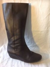 Clarks Black Knee High Leather Boots Size 7D