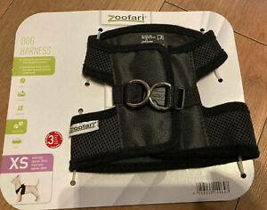 Zoofari Dog Harness X -Small Black XS Brand New !!