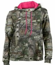 Mossy Oak Girl's Camo Performance Pullover Hoodie - BREAK-UP COUNTRY - M (7-8)