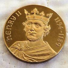 Henry II Chaucer Cuentos De Canterbury 44 mm a prueba de medalla de bronce