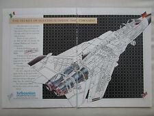 5/1986 PUB TURBO UNION RB199 MILITARY ENGINE TORNADO CUTAWAY ORIGINAL AD