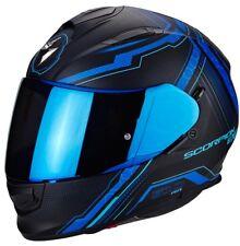 Casco Scorpion Exo-510 Air Sync Matte Black-blue talla L
