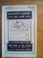 PUBLICITE ANCIENNE PUB ADVERT 1950 bicyclette lucifer dos moutarde colman's