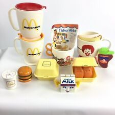 Vtg 80s McDonalds Fisher Price Fun With Food Nuggets Transformer Whirley Cup Lot