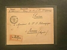 Russia-Cover 1902 Stamps-Registered-St.Pete rsbourg to Aarau/ Switzerland #01207