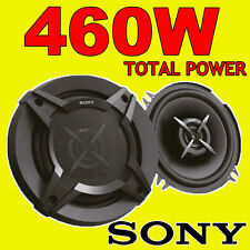 SONY 460W TOTAL 2WAY 5.25 INCH 13cm CAR DOOR/SHELF COAXIAL SPEAKERS BLACK PAIR