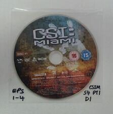 CSI Miami - Season 4 Part 1 Disc 1 - Eps 1-4 - Reg 2 - Replacement DVD DISC ONLY