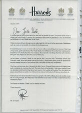 AutographLetter by Mohamed Al Fayed - Subject Dodi Fayed's Death A Hero to Zero