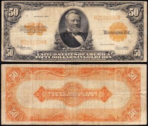 Nice RARE 1922 $50 *GOLD CERTIFICATE*! FREE SHIPPING! B2181098