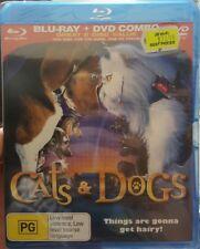*New & Sealed* Cats & Dogs (Blu-ray + DVD 2010, 2-Disc Set) Family Movie. Reg B