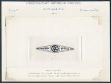 #RT6P1 1¢ E.W. HOYT & Co. LRG DIE PROOF ON INDIA, SUNK ON CARD EX-JOYCE BR2987