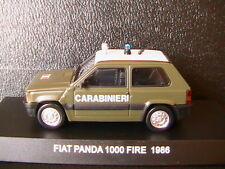 FIAT PANDA 1000 FIRE 1986 CARABINIERI DEAGOSTINI 1/43 ITALIA ITALY CARABINIER