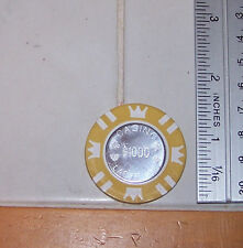 CooL 15 Gram $1,000 Coin Inlay Card GUARD Poker Chip Sample