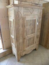 Armadio Dispensa artigianale in legno abete vecchio decorato a mano Bellissimo