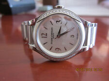 Ladies Baume & Mercier Stainless Steel And Diamond Watch, Mother Of Pearl Dial