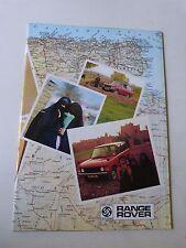 Catalogue prospectus :  LAND ROVER années 80