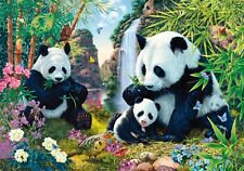 """STUNNING PANDA FAMILY PAINTING PICTURE CANVAS WALL ART MEDIUM 20x30""""INCHES"""