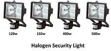 Choice of 4 Halogen Light With PIR Sensor Outdoor Garden Floodlight Security