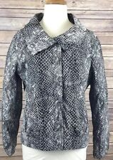 Chico's Snake Print Fully Lined Lightweight Water Repellent Rain Jacket Sz 1 (M)