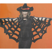 MagiDeal Spiderweb Cape Cloak Witch Poncho Men Womens Halloween Costume Gift