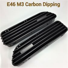 FOR 01-06 E46 M3 CARBON DIPPING FENDER SIDE GRILLES REPLACEMENT STICKER GRILLE