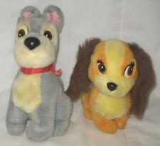 LOT OF 2 VINTAGE DISNEY LADY AND THE TRAMP PLUSH DOLLS