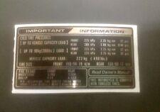 Honda GL1000/1100 - Pneu Info Decal-HONDA GOLDWING GL1100