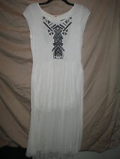 Beautiful Free People longer style dress,Ivory Combo,size M,comp.at $148.