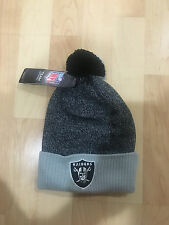 Oakland Raiders Youth Cuffed Knit Beanie with Pom - Youth size 8 - 20 - NFL