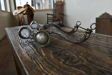 Gorgeous Antique Vintage Western El Gato Engraved Silver Horse Bit