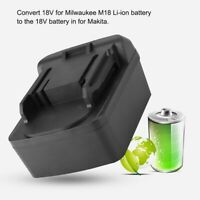For Milwaukee M18 Li-ion Battery To For Makita Battery Adapter Current Converter