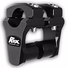 "ROX SPEED FX Pivoting Risers 2 Inch Rise 1 1/8"" Bar Handlebar Black 1R-P2PPK"