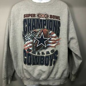 Dallas Cowboys Sweatshirt Starter NFL Super Bowl Champions Mens XLarge USA VTG