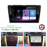 Android 9.1 Car DVD Radio Stereo GPS WIFI Player For Mazda 3 2004-2013 1+16GB