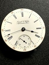 Pocket Watch Movement Running Beautiful Rare Private Label 18S Rockford 17J